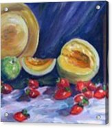 Melons With Strawberries Acrylic Print