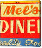 Mels Diner Acrylic Print by Wingsdomain Art and Photography