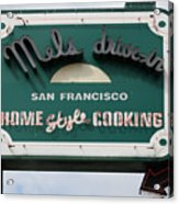 Mel's Drive-in Diner Sign In San Francisco - 5d18015 Acrylic Print by Wingsdomain Art and Photography