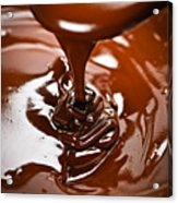 Melted Chocolate And Spoon Acrylic Print