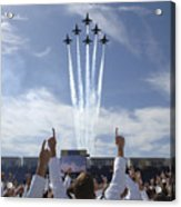 Members Of The U.s. Naval Academy Cheer Acrylic Print