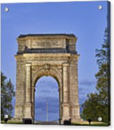 Memorial Arch Valley Forge Acrylic Print