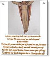 Memorial Card Acrylic Print