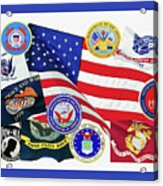 Memorial Day Collage Acrylic Print