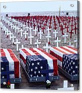 Memorial Day Remembrance At The Beach Acrylic Print