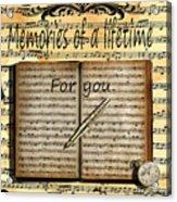 Memories 5 Acrylic Print