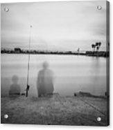 Memories Of Fishing Acrylic Print
