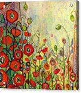 Memories Of Grandmother's Garden Acrylic Print