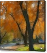 Memory Of An Autumn Day Acrylic Print