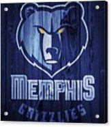 Memphis Grizzlies Barn Door Acrylic Print