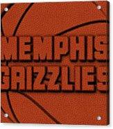 Memphis Grizzlies Leather Art Acrylic Print
