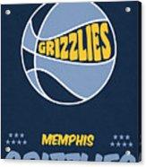 Memphis Grizzlies Vintage Basketball Art Acrylic Print