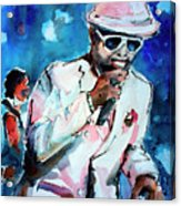Memphis Music Legend William Bell On Stage 1 Acrylic Print