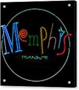 Memphis Neon Sign Acrylic Print
