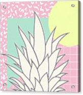 Memphis Pineapple Top Acrylic Print