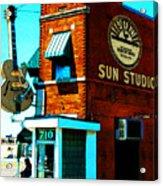 Memphis Sun Studio Birthplace Of Rock And Roll 20160215sketch Acrylic Print