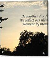 Memphis Sunset Haiku Acrylic Print by Leona Atkinson
