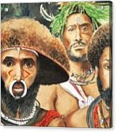 Men From New Guinea Acrylic Print