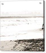 Men On Beach Acrylic Print