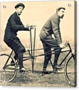 Men On Dual Bicycle, Cca 1900 Acrylic Print