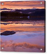 Mendenhall Sunset Acrylic Print