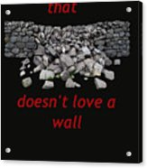 Mending Wall Transparent Background Acrylic Print