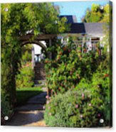 Mendocino Gate Acrylic Print