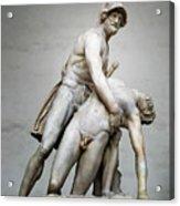 Menelaus And Patroclus Sculpture Acrylic Print