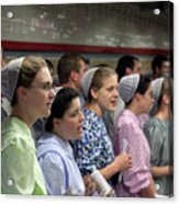 Mennonite Chorus  Union Square Station Nyc 5 21 11 1 Acrylic Print