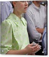 Mennonite Chorus Union Square Station Nyc 5 21 11 4 Female Sing Acrylic Print