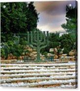 Menorah At Knesset Acrylic Print