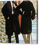 Mens Fashion, 1919 Acrylic Print
