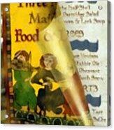 Menu From A Medieval Restaurant Acrylic Print