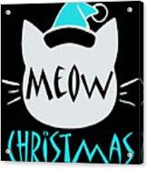 Meow Christmas Acrylic Print