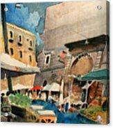 mercato del Pesce Acrylic Print