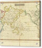 Mercator's Chart Acrylic Print