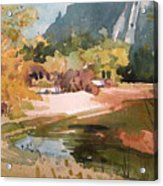 Merced River Encounter Acrylic Print