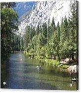 Merced River In Yosemite Acrylic Print