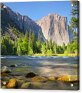 Merced River In Yosemite Valley Acrylic Print by Buck Forester