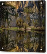 Merced River Morning Light Reflection Acrylic Print