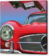 Mercedes 300 Sl Gullwing Detail Acrylic Print