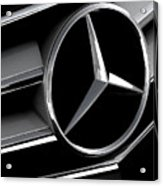 Mercedes Badge Acrylic Print