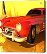 Mercedes-benz 300 Sl Red Acrylic Print