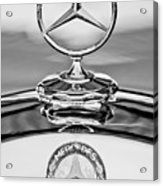 Mercedes Benz Hood Ornament 2 Acrylic Print by Jill Reger