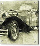 Mercedes-benz Ssk 1 - 1928 - Automotive Art - Car Posters Acrylic Print
