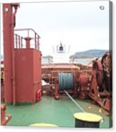 Merchant Vessel Deck Acrylic Print