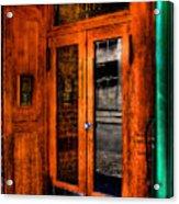 Merchants Cafe Doors Acrylic Print