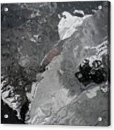 Mercurial Ice Abstract Acrylic Print