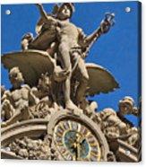 Mercury Clock At Grand Central Terminal Acrylic Print