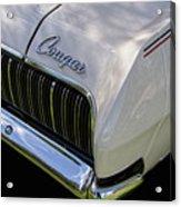 Mercury Cougar Xr7 Emblem Acrylic Print